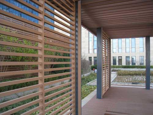 园林景观格栅-户外木塑廊架格栅护栏