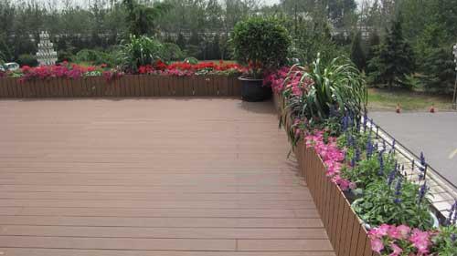 屋顶花园-木塑花坛景观